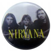Nirvana - 'Group Black & White' Button Badge